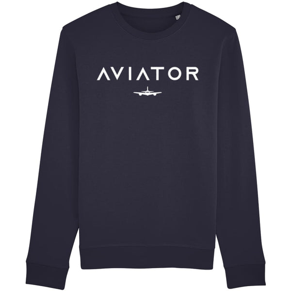 Aviator Sweatshirt - French Navy / X-Small - Clothing
