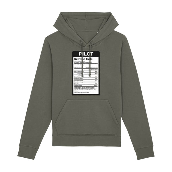 Pilot Nutritional Information Hoodie - Khaki / X-Small -