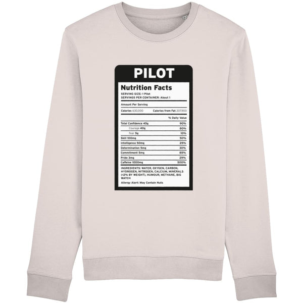 Pilot Nutritional Information Sweatshirt - Candy Pink /