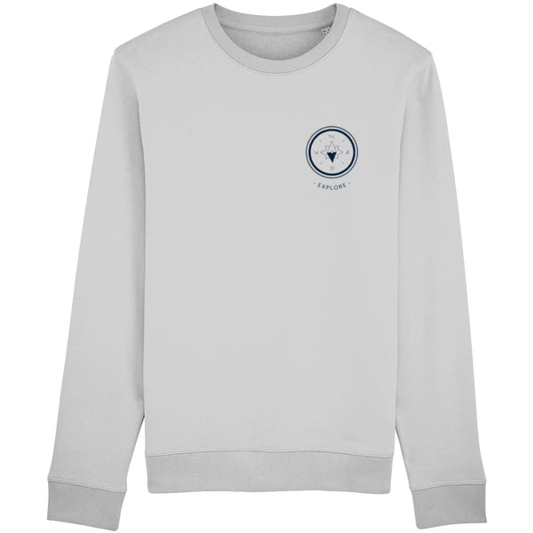 Explore Sweatshirt - Heather Grey / X-Small - Clothing