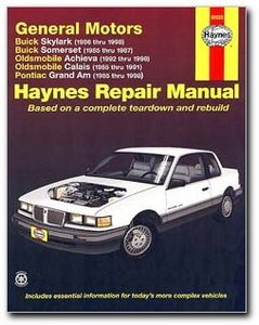 Haynes Buick Skylark and Somerset Oldsmobile Achieva and Calais and Pontiac Grand Am (85 - 98) Manual