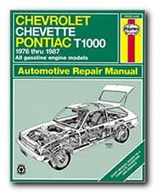 Haynes Chevrolet Chevette and Pontiac T1000 (76-87) Repair Manual (24024)