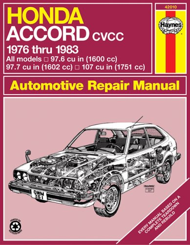 Honda Accord CVCC, 1976-1983 (Haynes Manuals)