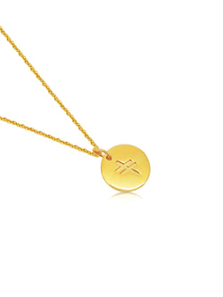 18ct Gold Plated Ogham Necklace Letter 'G