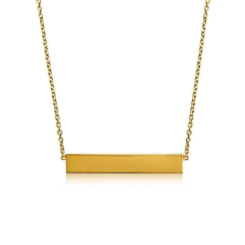 Ór Collection 18ct Gold Plated Bar Necklace