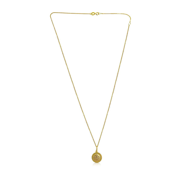 Ór Collection 9ct Yellow Gold St Christopher Necklace