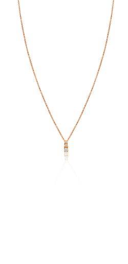 Ór Collection 9ct Rose Gold 3 Set Cubic Zirconia Pendant