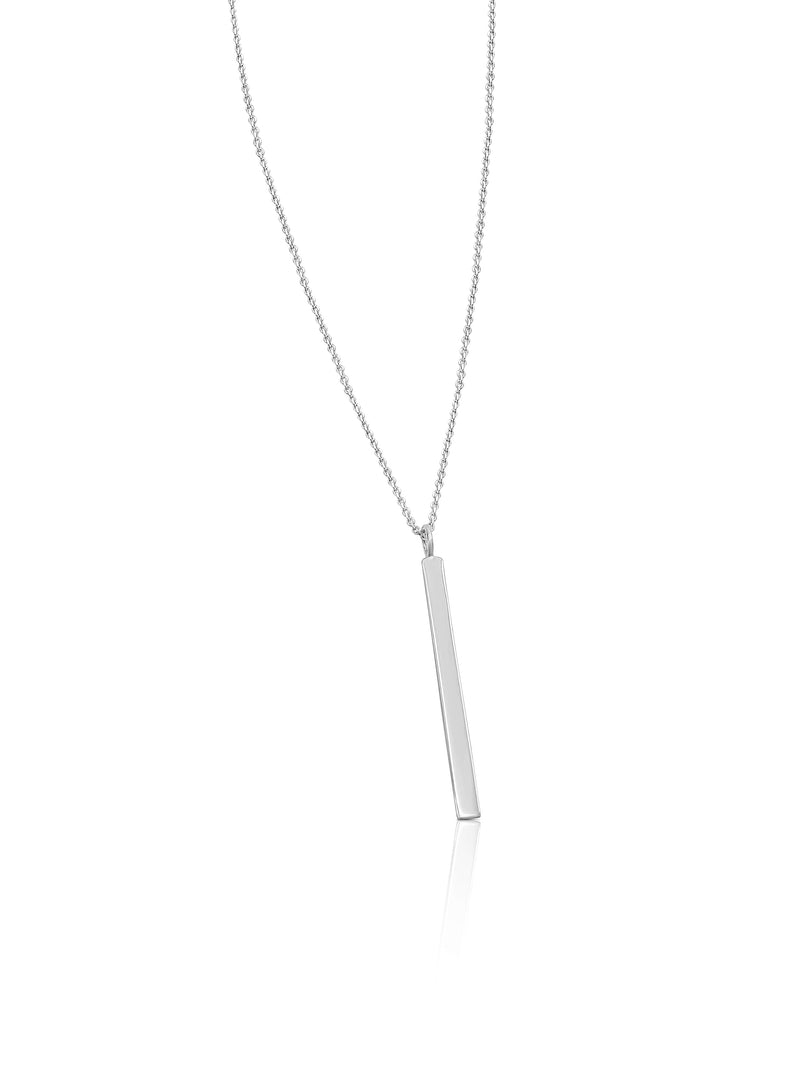 Ór Collection Sterling Silver Vertical Bar Necklace