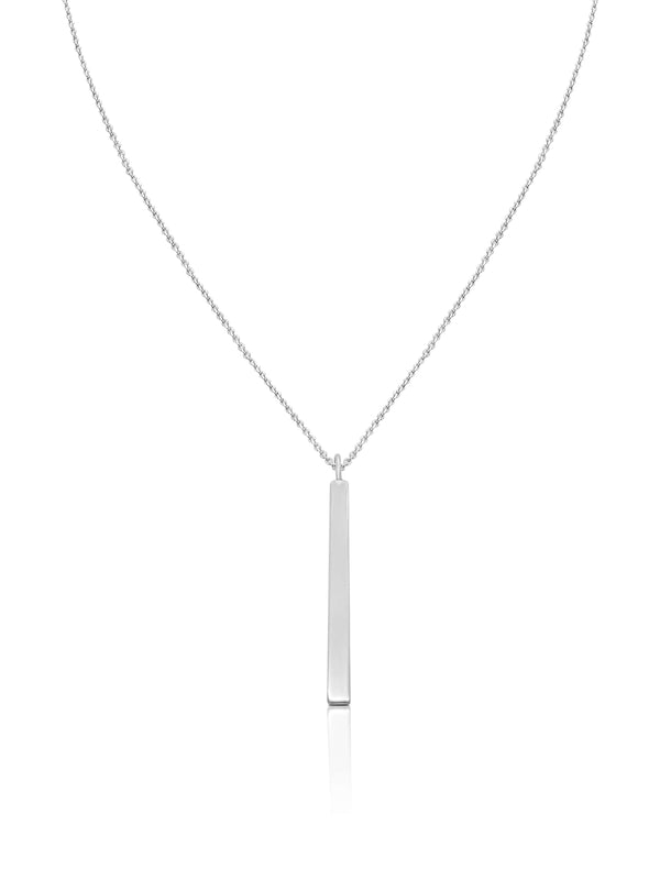 Ór Collection Sterling Silver Vertical Bar Necklace - Ór Jewellers