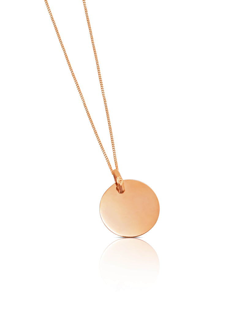 Ór Collection 9ct Rose Gold Disc