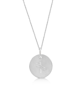 sterling silver ogham necklace letter G - Or Jewellers