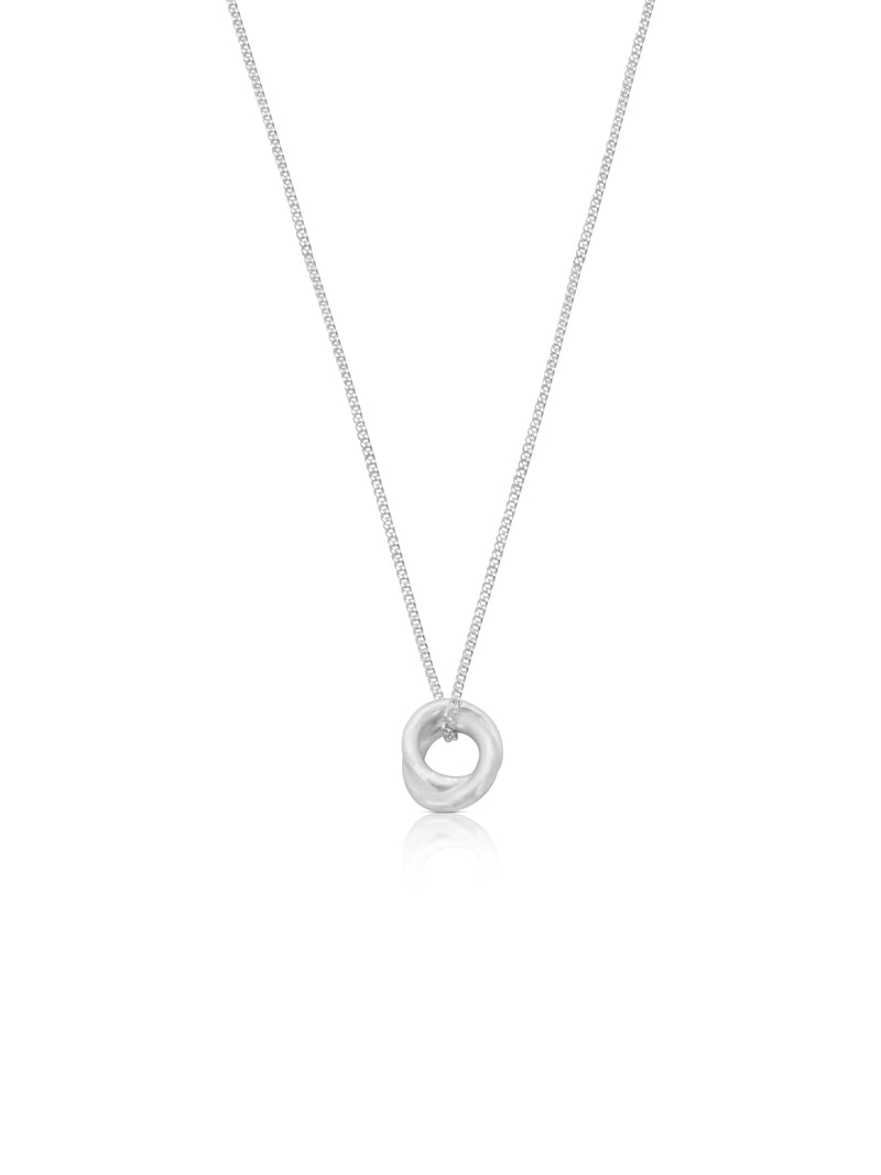 Susi Cala Sterling Silver Necklace With Double Circle Pendant