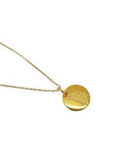 18ct Gold Plated Ogham Necklace Letter 'N'