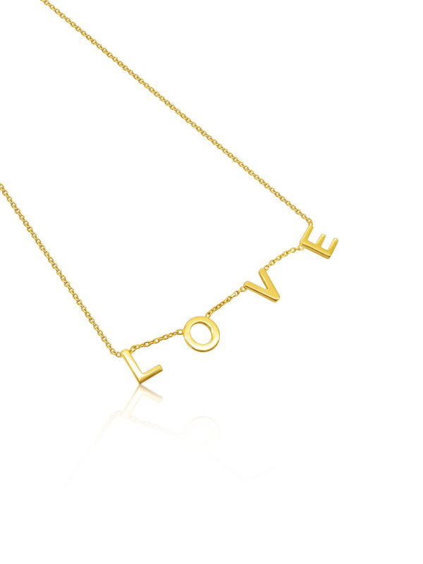 9ct Gold Love Necklace