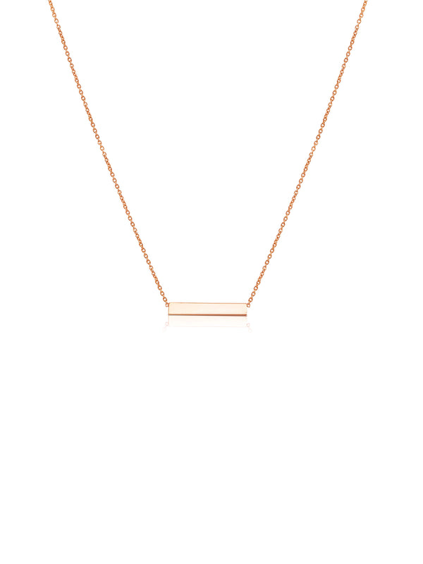 Ór Collection 9ct Rose Gold Bar