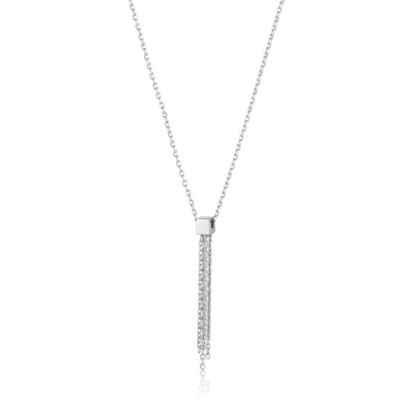 Sterling Silver Tassel Drop Necklace