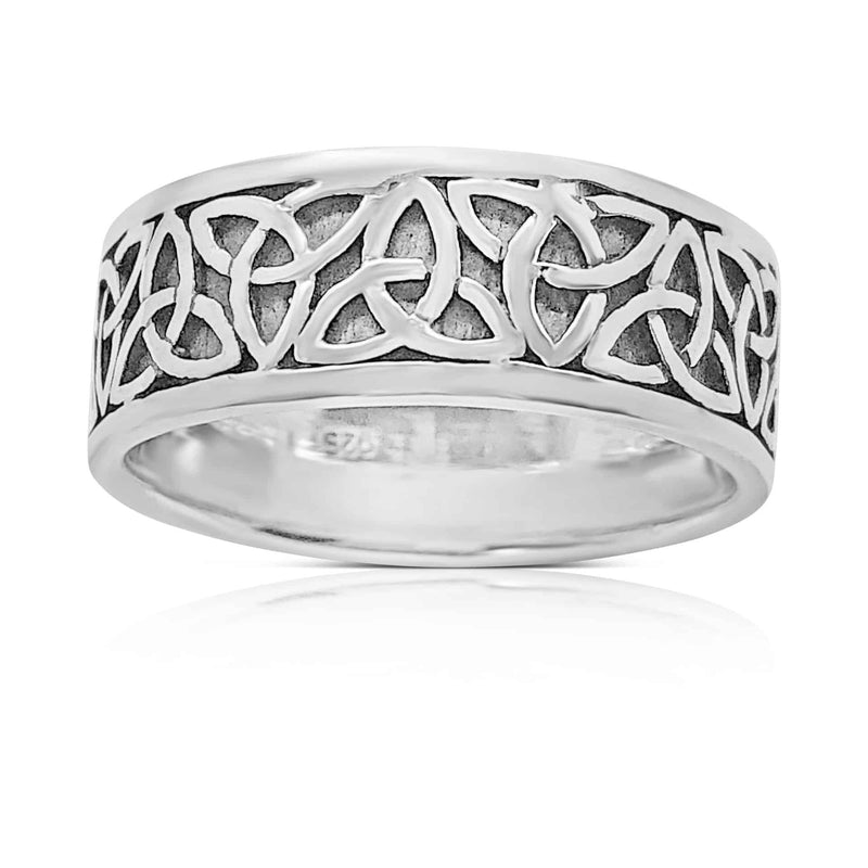 Sterling Silver Trinity Band