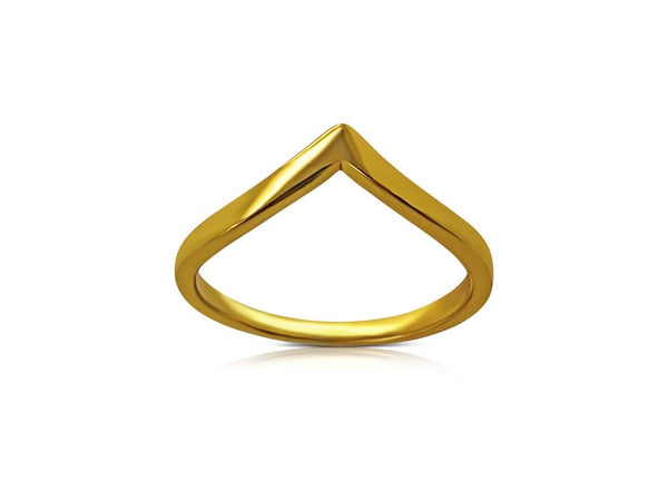 Gold Plated Wishbone Ring