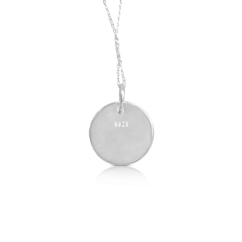 sterling silver ogham necklace letter M -Or Jewellers