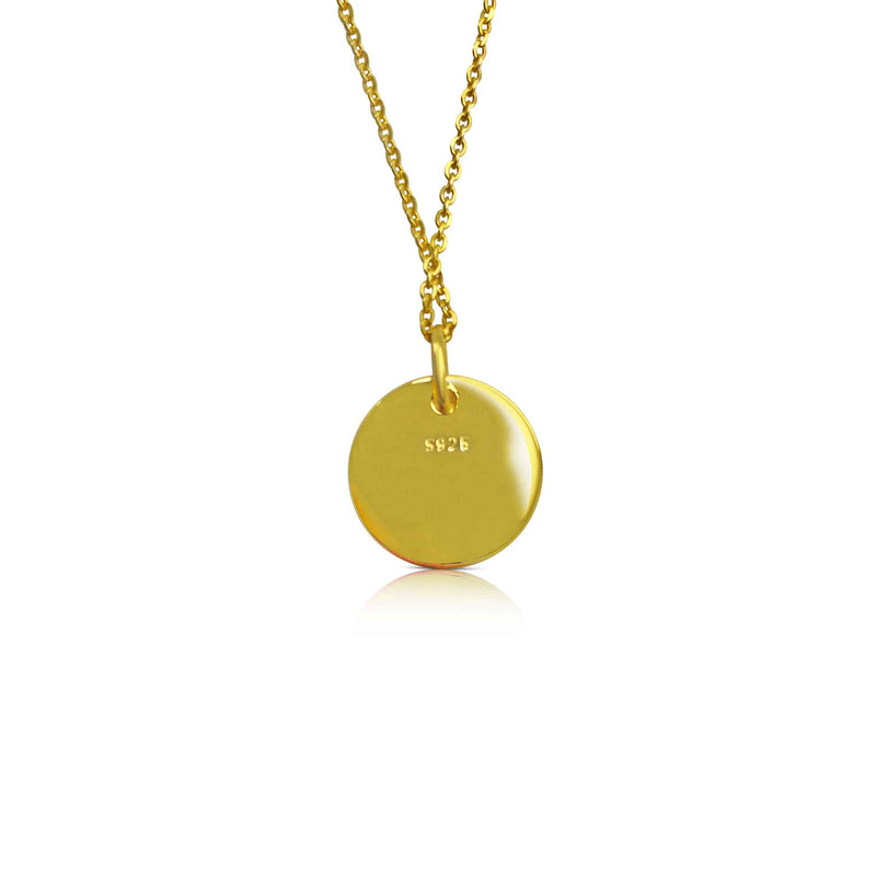 18ct Gold Plated Ogham Necklace Letter 'E'