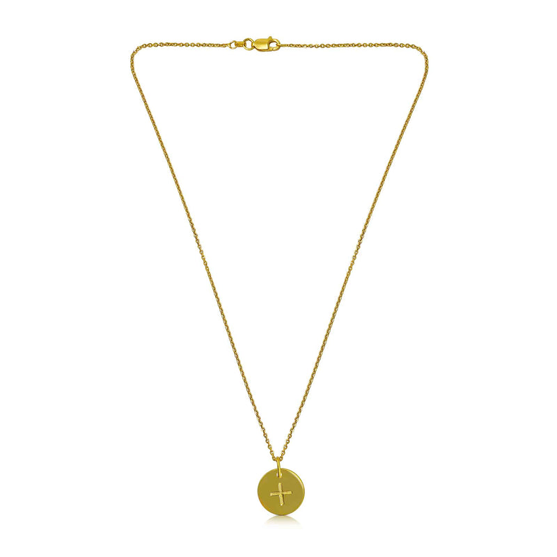 18ct Gold Plated Ogham Necklace Letter 'A'