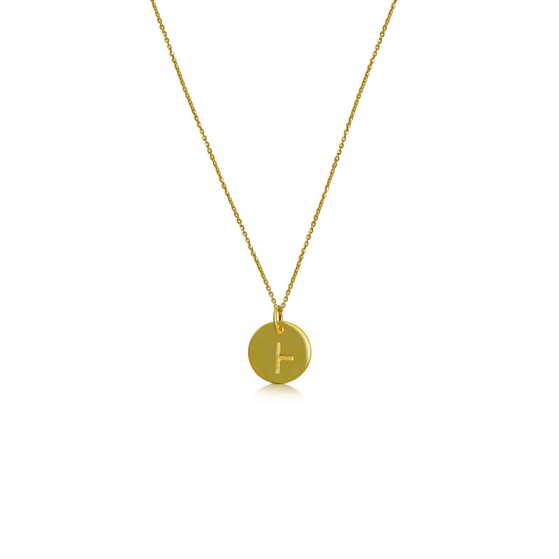 18ct Gold Plated Ogham Necklace Letter 'B'