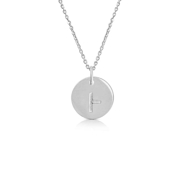sterling silver ogham necklace letter B - Or Jewellers