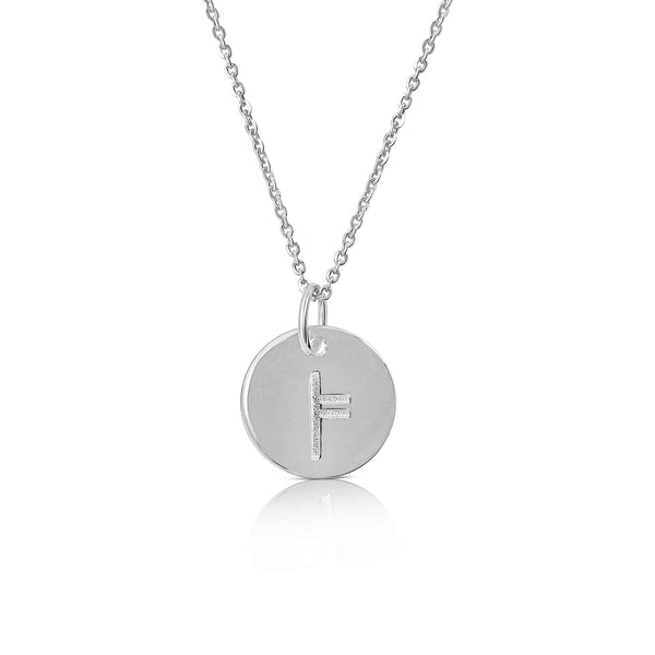 sterling silver ogham necklace letter L - Or Collection