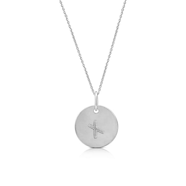 Sterling Silver Ogham Necklace Letter 'M'
