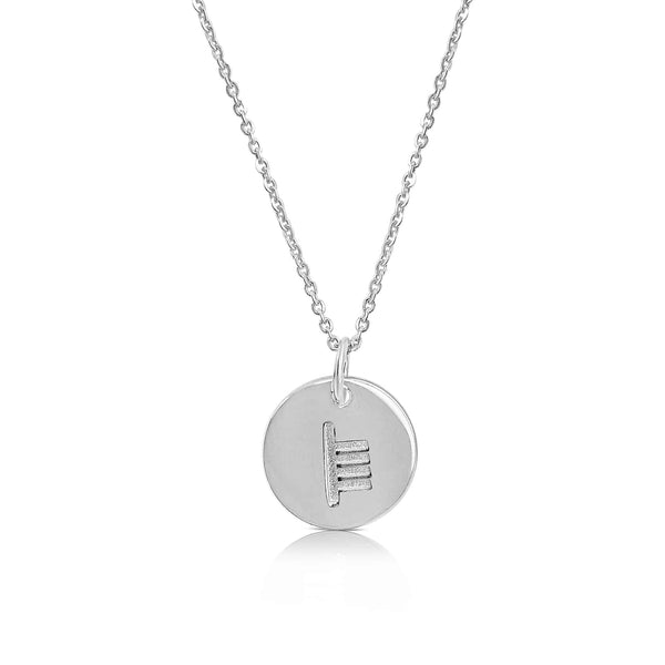 sterling silver ogham necklace letter S - Or Jeweller