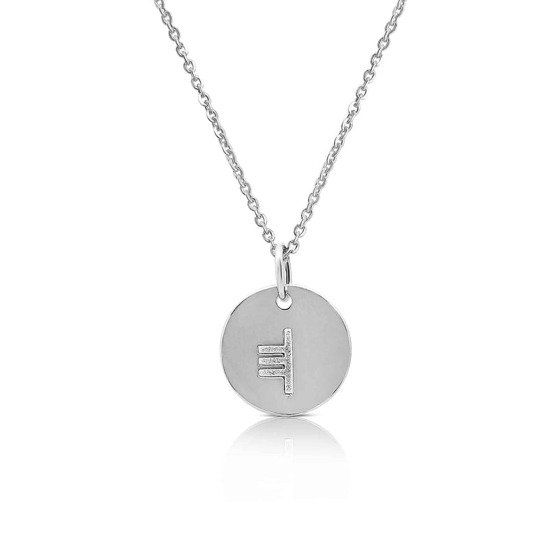sterling silver ogham necklace letter T - Or Jewellers