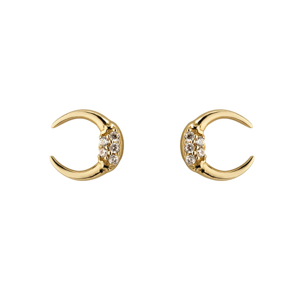 Ór Collection 9Ct Gold Opened Circle Stud
