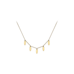 Ór Collection 9Ct Yellow Gold 5-Oval Drop Adjustable Necklace