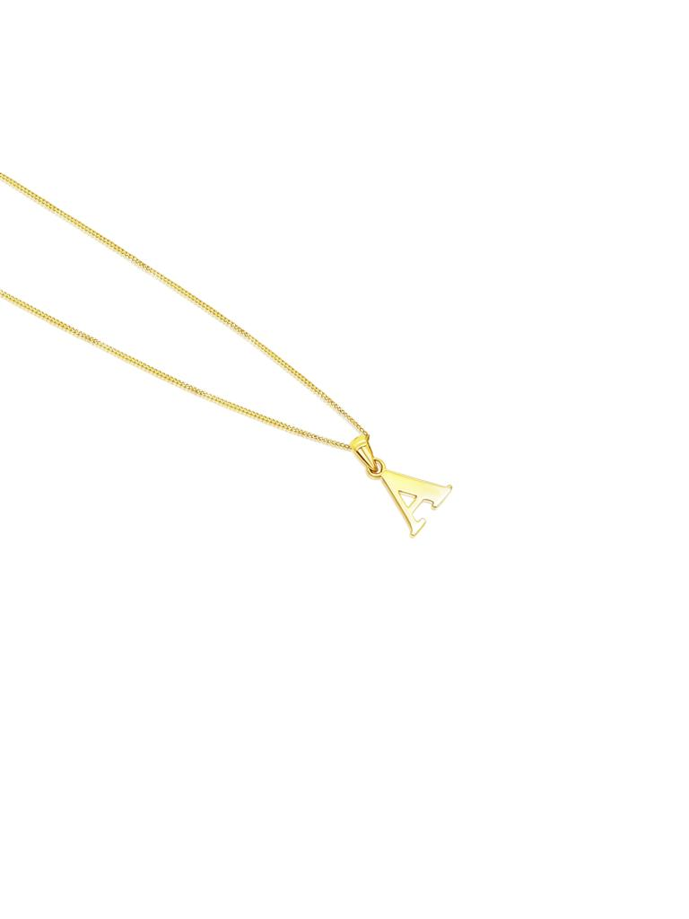 Ór Collection 9ct Gold 'A' Initial Necklace