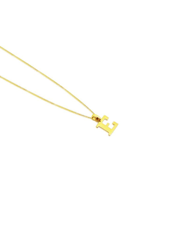 Ór Collection 9ct Gold 'E' Initial Necklace