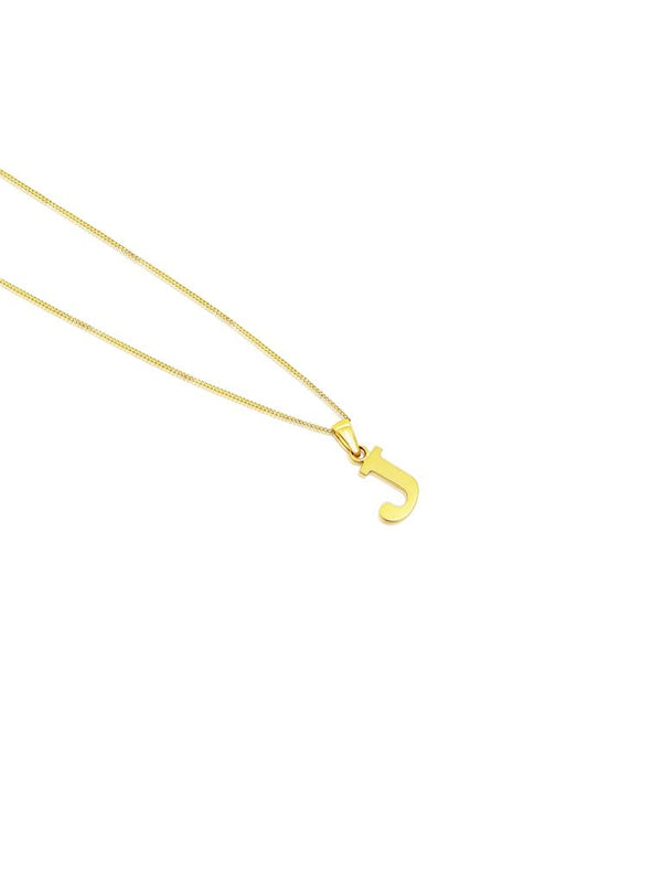 Ór Collection 9ct Gold 'J' Initial Necklace