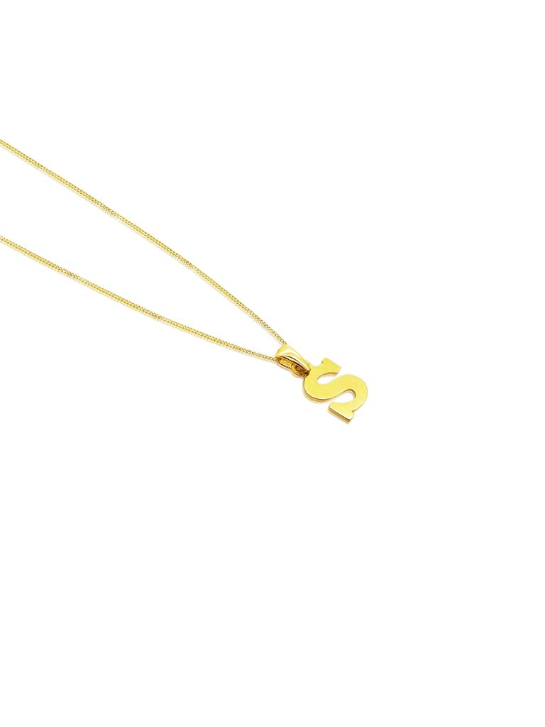 Ór Collection 9ct Gold 'S' Initial Necklace