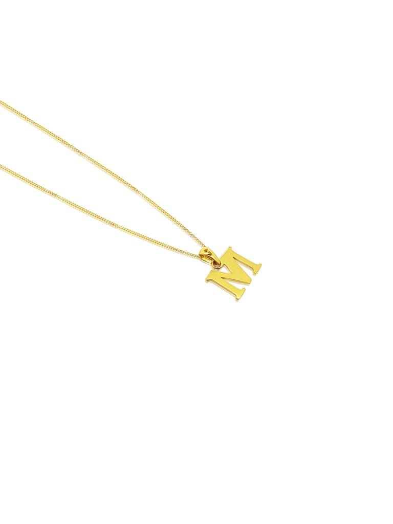 Ór Collection 9ct Gold 'M' Initial Necklace