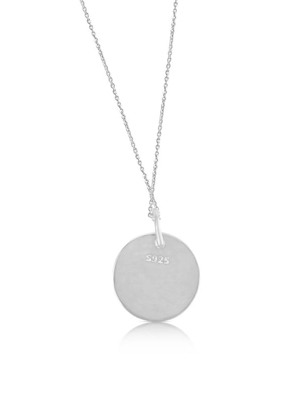 Sterling silver ogham necklace letter D - Or Jewellers