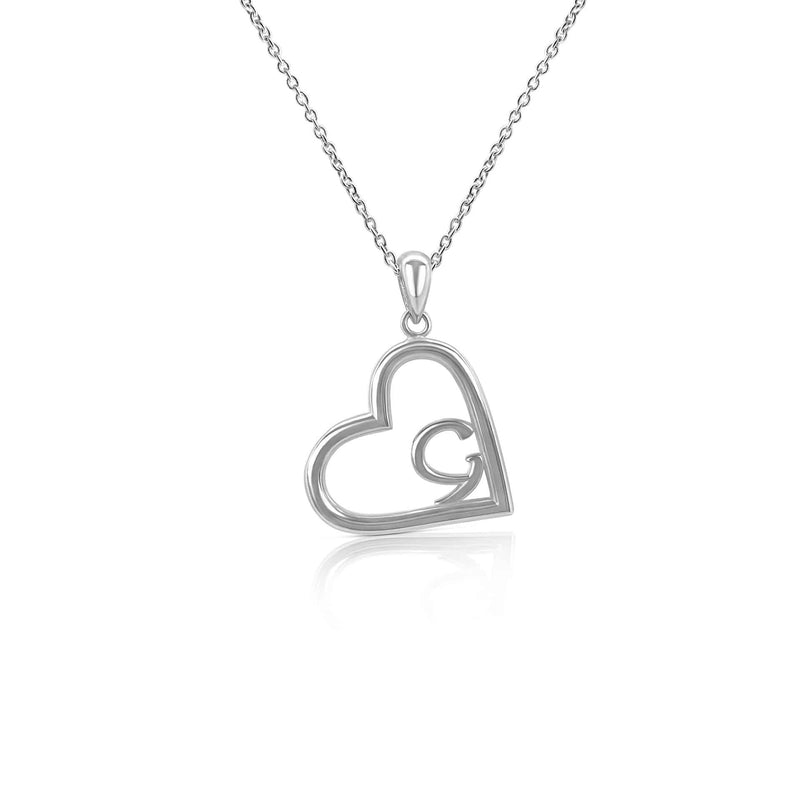 Sterling Silver Eternal Galway Heart With Ancient Gaelic Script Necklace
