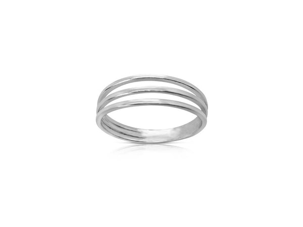 Ór Collection Sterling Silver Three Band Ring
