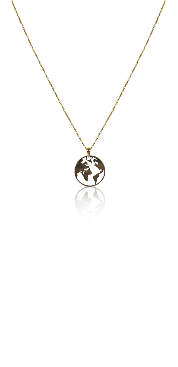 Ór Collection 9ct Yellow Gold World Necklace