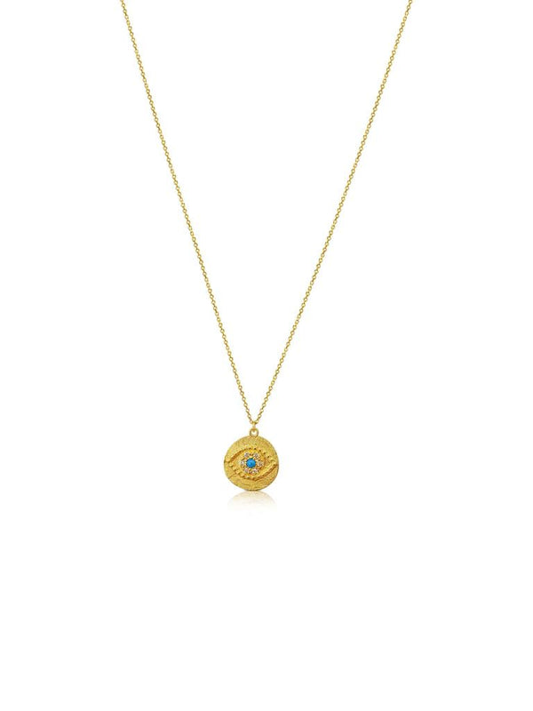 Or Collecting 9ct Gold Evil Eye Necklace - Or Jewellers