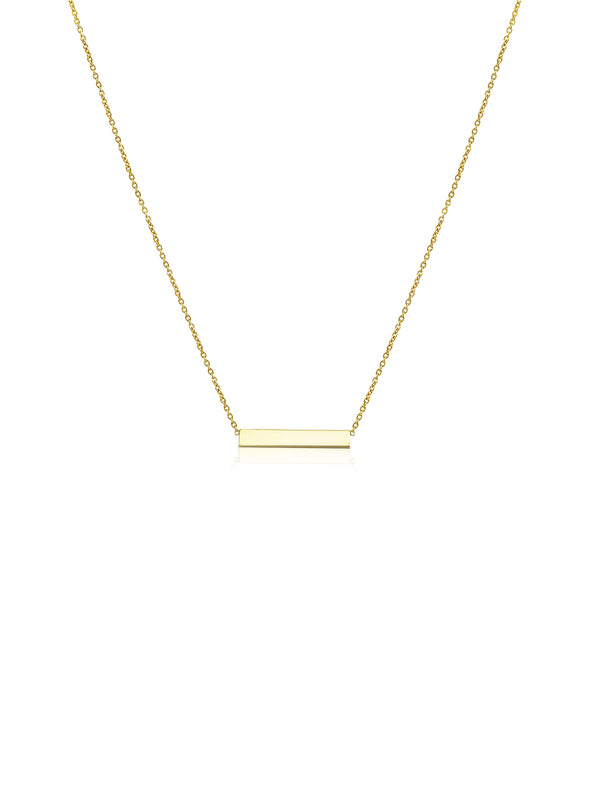 Ór Collection 9ct Yellow Gold Bar Necklace