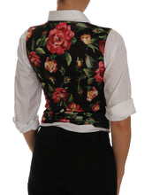 Load image into Gallery viewer, Gray Floral Vest Waistcoat Tank