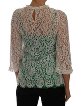 Load image into Gallery viewer, White Floral Lace Blouse Taormina Top