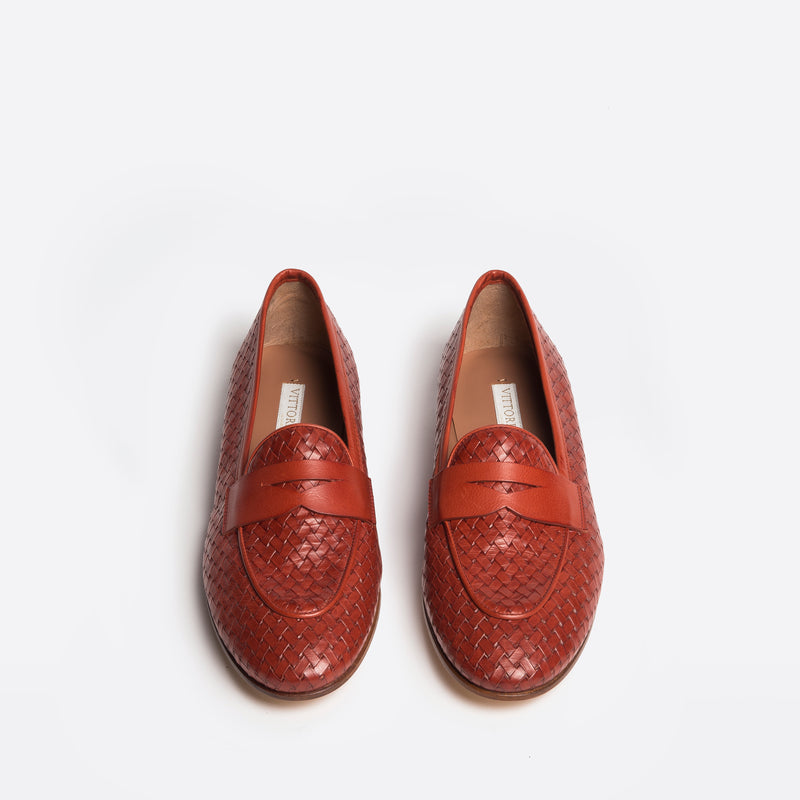 Giada Loafer reddish brick color