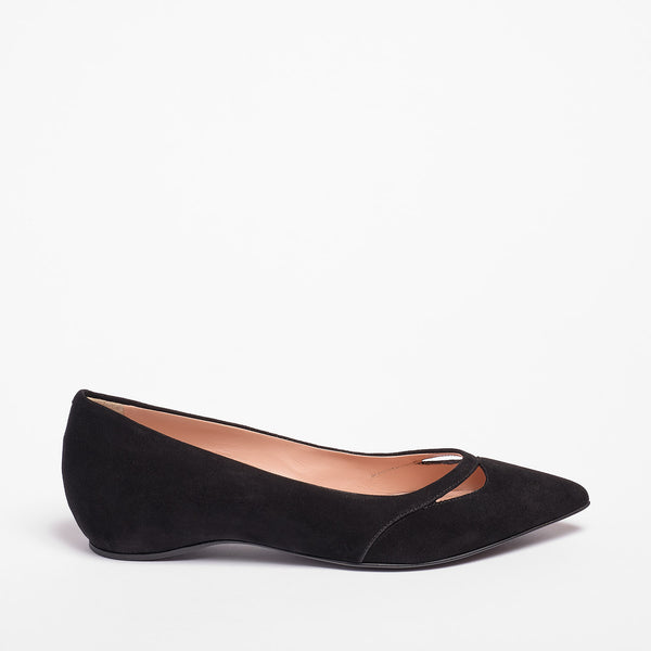 Gwineth  Ballet Flat Suede Black
