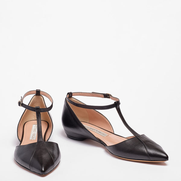 Mary Jane  Ballet Flat Nappa Leather Black