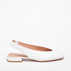 Kate Slingback Nappa Leather White